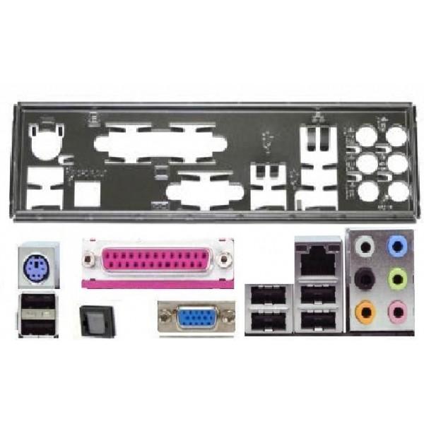 ATX Blende I/O shield Asus P5QL EPU M4A77TD P5P43TD #31 backplate