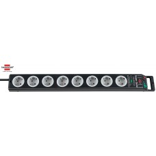 Brennenstuhl Super-Solid 13.500A Ueberspannungsschutz 8-fach schwarz/lichtgrau 2.50m