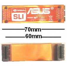 Asus 7cm flexibel SLI Bridge Brücke 70mm 60mm NEU OVP NEW flex 6cm ROG gamers