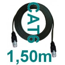 4x Stueck STK 1,5m Patchkabel flach CAT6 duenn Flachbandkabel 150cm 1,25 mm CAT 6