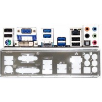 ATX Blende I/O shield Gigabyte GA-Z77-D3H #512 io GA-H87-D3H bracket OVP NEU NEW