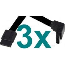3x SATA2 Daten Kabel Asus S-ATA2 3 GB/s Winkel -> gerade SATA NEU S-ATA 3 Stueck