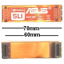 Asus 7cm flexibel SLI Bridge Brücke 70mm 60mm NEU OVP NEW flex 6cm ROG gamers