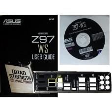 original asus Z97 WS Set Treiber CD DVD driver i/o shield manual Handbuch