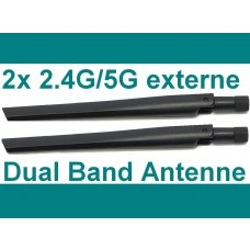 2x Stück Asus Router Antenne 2.4G / 5G Dual Band Wlan Antenna WiFi AP Stab Knick