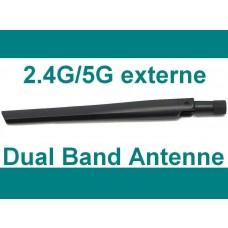 1x Asus Router Antenne 2.4G / 5G Dual Band Wlan Antenna WiFi AP Stab Knick NEU