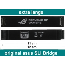 Asus 120mm SLI Bridge flexibel 120 mm NEU OVP Brücke republic of gamers 12cm ROG