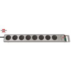 Brennenstuhl Super-Solid Line Steckdosenleiste 8-fach silber 2.50m H05VV-F 3G1.5