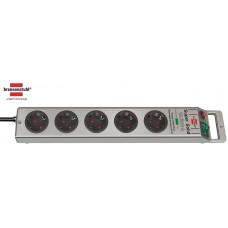 Brennenstuhl Super-Solid 13.500A Ueberspannungsschutz 5-fach silber 2.50m H05VV-F