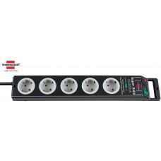Brennenstuhl Super-Solid 13.500A Ueberspannungsschutz  5-fach schwarz/lichtgrau 2.50m