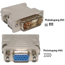 orig. asus DVI-A --> VGA Adapter D-SUB 6 +5 pol Kabel analog Stecker TFT Beamer