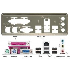 ATX Blende I/O shield ASRock K7NF2-RAID NEU #17 P4I65G P4V88+ backplate bracket