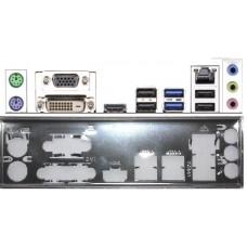 ATX Blende I/O shield ASRock B85M-HDS #498 io NEU B75M backplate bracket new