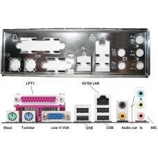 ATX Blende I/O shield ASRock Conroe133-D667 #562 io schield NEU OVP backplate