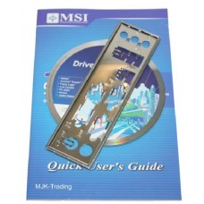 original MSI 915GM6 Zubehoer Set Treiber CD DVD driver i/o shield manual Handbuch