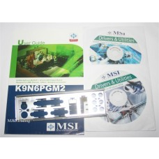 original MSI K9N6PGM2 Zubehoer Set Treiber CD DVD driver i/o shield manual Handbuch