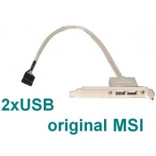 MSI Slotblech 2x USB 2 bracket Slotblende NEU OVP Slot new USB2 8 Pin Stecker
