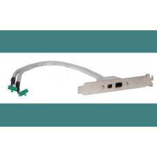 MSI Slotblech 2x FireWire IEEE1394 4pin 6pin 10 Pin Slotblende Fire Wire bracket