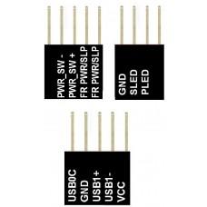 M-Connector Set (3 Stück) MSI NEU OVP ~1012 USB Power Port Stecker Q-Connector