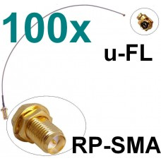 100x Antennen Adapter Kabel RP-SMA u-FL Wlan Stück Speedport Fritz!Box Pigtail