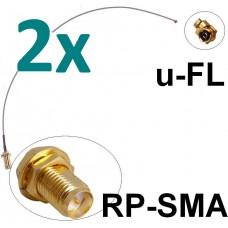 2x Antennen Adapter Kabel RP-SMA u-FL Wlan Stück Speedport Fritz!Box Pigtail IPX