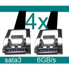 4x SATA3 Kabel 50cm SATA 3 6Gb/s gerade Clip S-ata3 Asus Gigabyte MSI ASRock NEU
