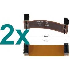 2x nVidia SLI Bridge Bruecke flex 60mm NEU OVP 2 Stueck 6cm new flexible Kabel