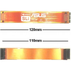 "Asus 12cm flexibel SLI Bridge Brücke 120mm 110mm NEU OVP NEU flex 4 3/4"" ROG new"