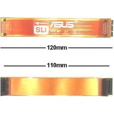 nvidia 12cm flexibel SLI Bridge Brücke 120mm 110mm NEU OVP NEU flex 11cm asus