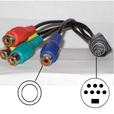 Video Adapter SVHS 4x Chinch RGB ATI Grafik TV 7 pol #7