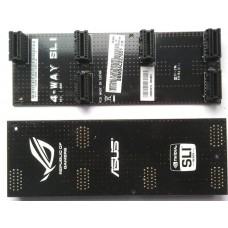 Asus 135mm 4-way SLI Bridge star 120mm NEU OVP Bruecke Kabel Zubehoer 12cm starr