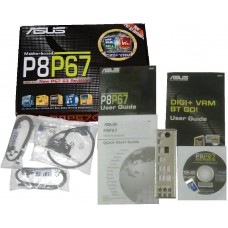 OVP original Zubehoer Asus P8P67andbuch CD DVD i/o shield Kabel quick manual io