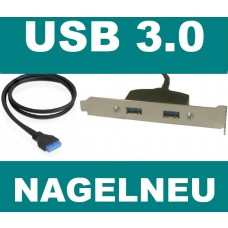 Asus Slotblech 2x USB 3 USB3 bracket Slotblende NEU OVP TypA Kabel Adapter Panel