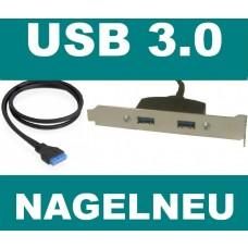 Asus Slotblech 2x USB 3 USB3 bracket Slotblende NEU OVP