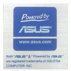 original asus www.asus.com Aufkleber Stick Gehäuseaufkleber powered by asus NEU