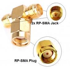Antennen Adapter Splitter RP-SMA Wlan Stück Y-Verteiler T-Stück Pigtail IPX NEU