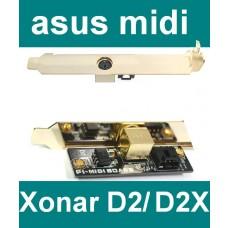 Zubehör Asus PI-Midi Karte für Xonar Soundkarte D2 + DX + D2X Midi-Board NEU OVP